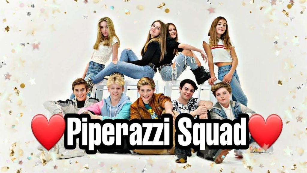 Piperazzi Squad team with Piper Rockelle